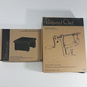 Pamper Chef Apple Peeler Slicer Corer and Stand